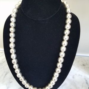 925 JEWELRY: Heavy Silver Beaded Necklace